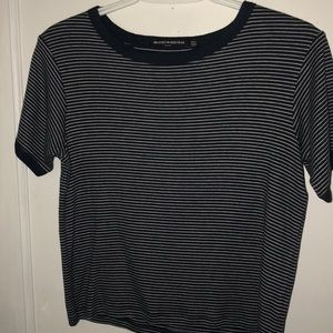 Navy blue slightly cropped top